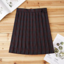 skirt Autumn of 2019 S,M,L,XL Short skirt Sweet High waist Pleated skirt lattice 18-24 years old Z-039 71% (inclusive) - 80% (inclusive) cotton solar system