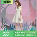 Dress Summer of 2018 white XS,S,M,L,XL Short skirt singleton  Sleeveless commute Crew neck High waist Solid color Socket A-line skirt 25-29 years old Type A JUNGLE ME Retro More than 95% polyester fiber