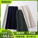 skirt Spring 2021 S,M,L Mid length dress commute High waist other Solid color Type A 18-24 years old 31% (inclusive) - 50% (inclusive) other Other / other hemp Pocket, zipper 201g / m ^ 2 (including) - 250G / m ^ 2 (including)