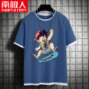 T-shirt NGGGN 110cm 120cm 130cm 140cm 150cm 160cm 165cm male summer Short sleeve motion There are models in the real shooting nothing cotton printing Cotton 100% NJRXP000413 Class B Sweat absorption Summer 2021 Chinese Mainland Hubei province Wuhan City