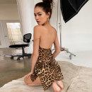 Dress Autumn 2020 Leopard Print S,M,L Short skirt singleton  Sleeveless street other High waist Leopard Print Socket One pace skirt other camisole 18-24 years old Type H dulzura printing More than 95% other polyester fiber Europe and America