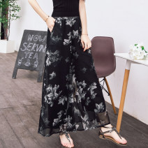 Casual pants black M,L,XL Spring 2021 trousers Wide leg pants High waist commute Thin money 18-24 years old 31% (inclusive) - 50% (inclusive) Korean version