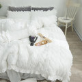Bedding Set / four piece set / multi piece set Polyester (polyester fiber) Quilting Solid color 133x72 Xinyisha Polyester (polyester fiber) 4 pieces 60 Lucky grass - white, lucky grass - pink, lucky grass - gray, lucky grass - green Bed skirt Qualified products Princess style Thermal storage velvet