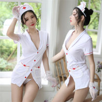 Fun suit Other / other Polyester fiber Sexy nurse uniform A-214 Tight coating style Nurse Uniform other A-214 S [suitable for 80-95 kg], m [suitable for 95-105 kg], l [suitable for 105-120 kg]