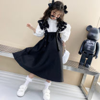 Dress White shirt, black skirt female Other / other Other 100% summer leisure time Long sleeves Solid color polyester fiber Splicing style H901 7, 8, 14, 3, 6, 13, 11, 5, 4, 10, 9, 12 Chinese Mainland