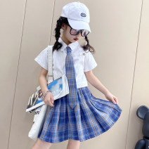 suit Other / other White, black socks female summer leisure time Short sleeve + skirt 3 pieces Thin money There are models in the real shooting Single breasted nothing lattice cotton children Learning reward W2540 Cotton 100% 7, 8, 14, 3, 6, 13, 11, 5, 4, 10, 9, 12 Chinese Mainland