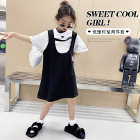 suit Other / other White + Black female summer leisure time 2 pieces There are models in the real shooting Socket nothing cotton children Learning reward 7, 8, 14, 6, 13, 11, 5, 4, 10, 9, 12 Chinese Mainland