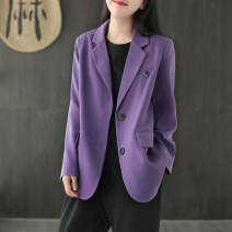 short coat Autumn 2020 S,M,L Long sleeves routine routine Single breasted Made by Xiaoer 91% (inclusive) - 95% (inclusive) D688