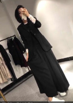 Fashion suit Autumn of 2019 M. L, XL, XXL, the pants are big, similar to the skirt~ black 18-25 years old 81% (inclusive) - 90% (inclusive) cotton