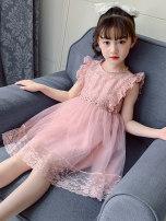Dress Pink female Bad little treasure 110cm,120cm,130cm,140cm,150cm,160cm Other 100% summer Korean version Skirt / vest other other other Class A 2 years old, 3 years old, 4 years old, 5 years old, 6 years old, 7 years old, 8 years old