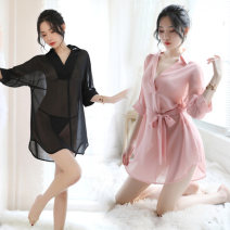 shirt White, black, pink Average size Summer of 2019 polyester fiber 96% and above Sweet Regular Socket Solid color 18-24 years old Straight cylinder solar system