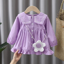 Dress Blue, purple female Other / other 80, 90, 100, 110 Other 100% spring and autumn Korean version other cotton other JLL1915 12 months, 9 months, 18 months, 2 years, 3 years, 4 years Chinese Mainland