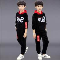 suit Other / other Sup black suit, sup navy suit, sup red suit, three pieces -- red, three pieces -- Green The recommended height is about 110cm for Size 120, 120cm for Size 130, 130cm for size 140, 140cm for size 150 and 150cm for size 160 male winter Long sleeve + pants 2 pieces 12, 13, 14