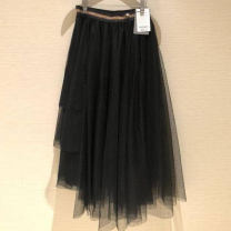 skirt Spring 2021 One, two, three, four, five Black 5200135 Mid length dress commute Irregular Solid color Type A other Brother amashi other Korean version 201g / m ^ 2 (including) - 250G / m ^ 2 (including)