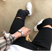 Jeans Youth fashion Others S(28-29),M(30-31),L(32-33) black trousers Other leisure autumn 2018