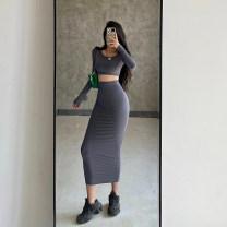 Fashion suit Autumn 2020 M dark grey 18-25 years old