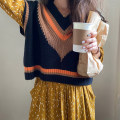 Fashion suit Autumn 2020 Average size Knitted vest, yellow dress 18-25 years old