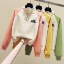 Sweater / sweater Spring 2021 Orange, green, yellow M,L,XL,2XL Long sleeves routine routine Straight cylinder commute routine letter 18-24 years old 81% (inclusive) - 90% (inclusive) Other / other Korean version cotton cotton zipper