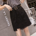 skirt Summer 2021 S,M,L,XL,2XL,3XL,4XL Off white, black Short skirt Versatile High waist A-line skirt Solid color Type A 18-24 years old 81% (inclusive) - 90% (inclusive) Denim cotton pocket 401g / m ^ 2 (inclusive) - 500g / m ^ 2 (inclusive)