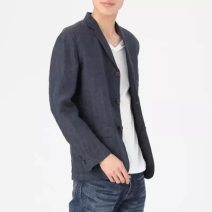 man 's suit Others Fashion City routine NM050 easy Double breasted Other leisure Back middle slit autumn American leisure Casual clothes Solid color Wide neck (9-11cm) hemp