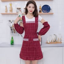 apron Coffee, dark grey, jujube, jujube + same sleeve, coffee + same sleeve, dark grey + same sleeve Sleeveless apron waterproof Korean style other Household cleaning Average size Other brands public yes Idyllic