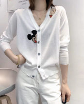 Wool knitwear Spring 2021 Average size Red, black, white, blue Long sleeves singleton  Socket other 81% (inclusive) - 90% (inclusive) Regular Thin money commute easy V-neck routine Solid color Socket Korean version