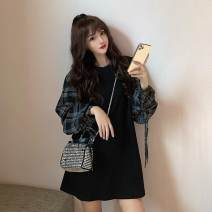 Outdoor casual clothes Tagkita / she and others female one hundred and thirty-two point two five White, black, collection plus purchase priority delivery 51-100 yuan S 100 kg, m 100-110 kg, l 110-125 kg other Long sleeves autumn Crew neck other