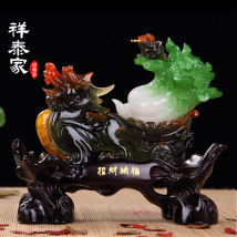 Ornaments resin animal Classical in Ming and Qing Dynasties Tabletop ornaments a living room Xiangtaijia Solicit wealth