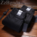 Casual pants Zzbgnda / jaydeni Road Business gentleman Black, Navy 29,30,31,32,33,34,35,36,38,40,42 thick trousers go to work Straight cylinder Micro bomb winter youth Business Casual 2018 middle-waisted Straight cylinder Arrest line No iron treatment cotton
