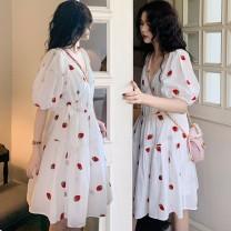 Sports dress HjP2R9 female Auden white S M L XL Summer 2020 Short sleeve V-neck