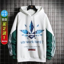 Sweater Youth fashion DTT M L XL 2XL 3XL Solid color Socket Plush Hood winter easy leisure time teenagers tide routine Fleece  cotton Embroidery No iron treatment Spring 2020 Save pocket Pure e-commerce (online only) simple style