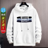 Sweater Youth fashion DTT White, blue, black M L XL 2XL 3XL other Socket routine Hood spring easy leisure time teenagers tide routine Fleece  Polyester fiber 93.7% polyurethane elastic fiber (spandex) 6.3% other printing other Winter 2020 Kangaroo pocket Pure e-commerce (online only) simple style