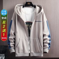 Sweater Youth fashion DTT Black grey blue M L XL 2XL 3XL other Cardigan routine other spring easy leisure time teenagers tide routine Fleece  Polyester 100% other Zipper decoration No iron treatment Spring 2021 Side seam pocket Pure e-commerce (online only) simple style  zipper