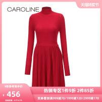 Dress Winter 2017 Black red 160/80A/S 165/84A/M 170/88A/L 170/92A/XL Short skirt 25-29 years old Caroline / Caroline 30% and below nylon Viscose (viscose) 72.6% polyamide (nylon) 27.4% Same model in shopping mall (sold online and offline)
