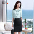 Dress Summer of 2019 S M L XL 2XL 3XL 4XL Mid length dress singleton  elbow sleeve commute other High waist Solid color Socket other routine Others 25-29 years old Type H See sunny / Qin Chen Ol style More than 95% polyester fiber Polyester 95% polyurethane elastic fiber (spandex) 5%