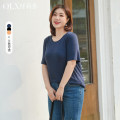 Women's large Summer 2021 XL 2XL 3XL 4XL 5XL 6XL T-shirt singleton  commute Self cultivation moderate Socket Short sleeve Korean version Crew neck routine other Three dimensional cutting Delicate and beautiful 25-29 years old 91% (inclusive) - 95% (inclusive) Pure e-commerce (online only)