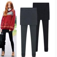 Leggings Spring 2020 White, light gray, dark gray, black, Navy, coffee, light pink, bean green Pure cotton routine trousers