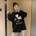 T-shirt Crew neck Average size Other / other Long sleeves Four seasons Korean version Medium length Cartoon animation routine Pure cotton (95% and above)