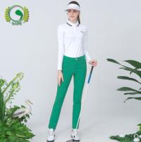 Golf apparel White, green S,M,L,XL,XXL female G-LIFE Long sleeve T-shirt