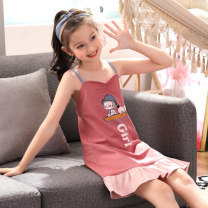 Home skirt / Nightgown Sui language 8 [height 95-105cm] 10 [height 105-115cm] 12 [height 115-125cm] 14 [height 125-135cm] 16 [height 135-143cm] s [height 143-150cm] m [height 150-160cm] l [height 160-165cm] XL [height 165-170cm] Cotton 100% summer female Home Class B cotton Summer of 2019