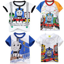 T-shirt Other / other The recommended height is 95cm for size 100, 100-110cm for Size 110, 110-120cm for Size 120, 120-130cm for Size 130 and 130-140cm for size 140 male summer Short sleeve Crew neck leisure time nothing Pure cotton (100% cotton content) Cartoon animation Cotton 95% other 5%