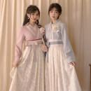Fashion suit Spring 2021 S. M, l, average size Yan pink dress, light grey blue dress, Yan pink brooch, light grey blue brooch, Yan pink hair ornament, light grey blue hair ornament Chuandai time