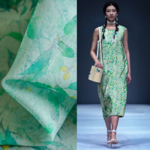 Fabric / fabric / handmade DIY fabric hemp Loose shear piece Plants and flowers printing and dyeing clothing Chinese style M96