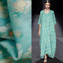 Fabric / fabric / handmade DIY fabric hemp Light purple, coral cyan, turquoise green, Korean blue, sweet rose red Loose shear piece Plants and flowers printing and dyeing clothing Chinese style M95