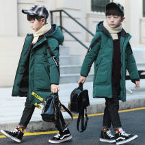 Cotton padded jacket male No detachable cap other Other / other Green, black The recommended height is 105-115cm for Size 120, 115-125cm for Size 130, 125-135cm for size 140, 135-145cm for size 150, 145-155cm for size 160 and 155-165cm for size 170 3 months
