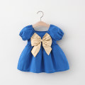Dress Red, blue, transparent female Other / other 66cm,73cm,80cm,85cm,90cm,95cm,100cm Cotton 80% PVC 20% summer fresh Short sleeve Solid color Cotton blended fabric Princess Dress 12 months, 6 months, 9 months, 18 months, 2 years, 3 years Chinese Mainland