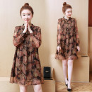 Lace / Chiffon Winter 2020 Picture color XL,2XL,3XL,4XL,5XL Long sleeves commute Socket singleton  easy Medium length stand collar Decor routine Printing, stitching, tridimensional decoration, buttons Korean version 51% (inclusive) - 70% (inclusive)