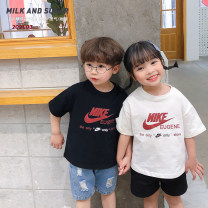 T-shirt Black, white Other / other 90cm,100cm,110cm,120cm,130cm,140cm male summer Short sleeve Crew neck Korean version There are models in the real shooting nothing cotton Cartoon animation XY1202 Class B Sweat absorption 12 months, 3 years, 18 months, 9 months, 2 years, 5 years, 4 years Hangzhou