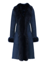 woolen coat Winter of 2018 M 2XL blue polyester fiber 95% and above three hundred and thirty thousand one hundred and ninety-nine