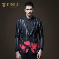 man 's suit Fashion City black Pinli routine L175 B181206105 Polyester fiber 89.7% polyurethane elastic fiber (spandex) 10.3% Spring of 2018 Pure e-commerce (online only)